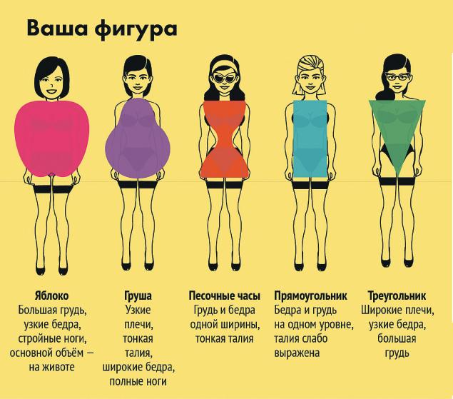 Разные типы женской фигуры