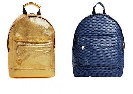 Рюкзаки золотого и синего цвета